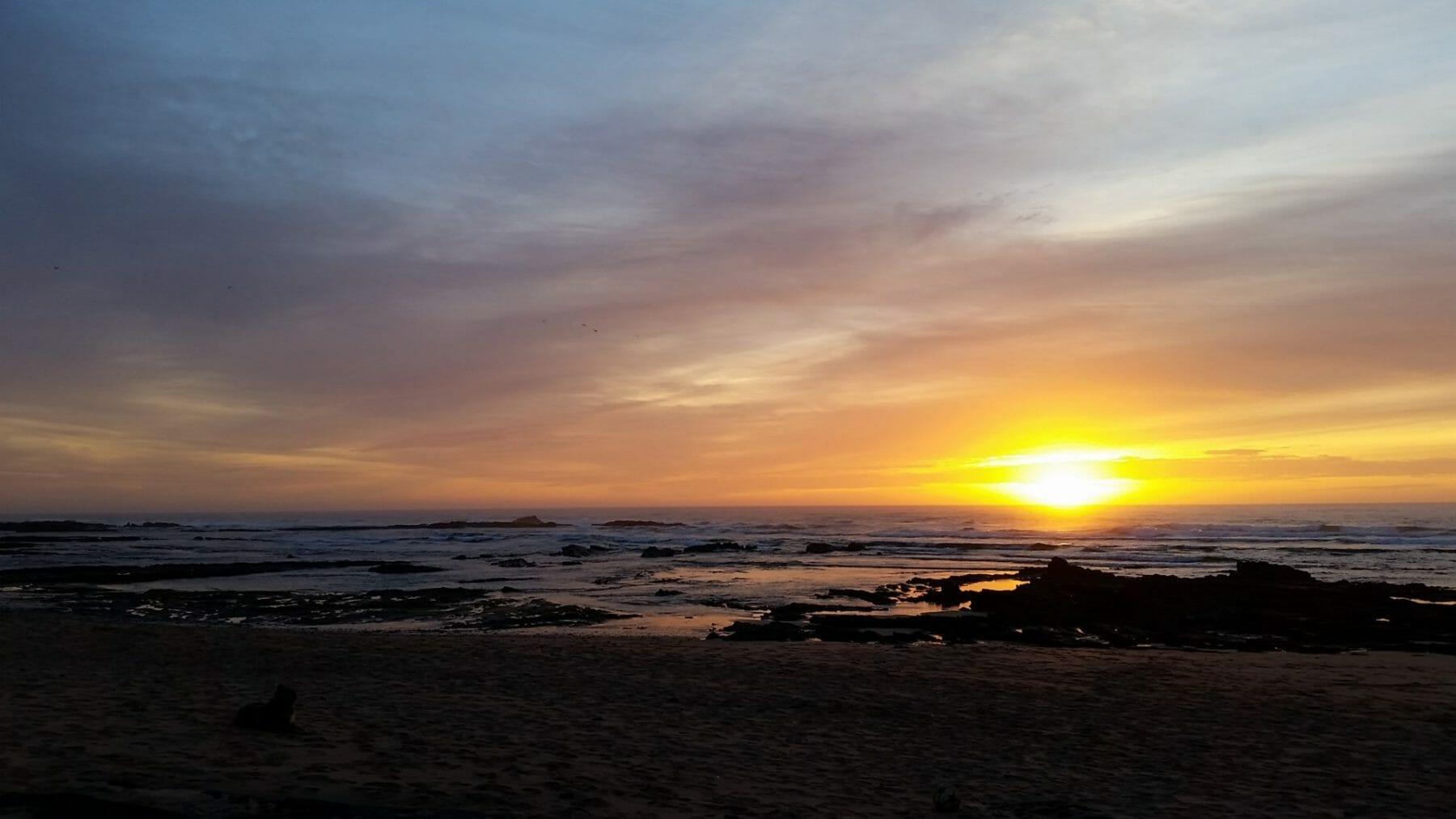Tai Chi Urlaub am Meer - Sonnenuntergang im Meer