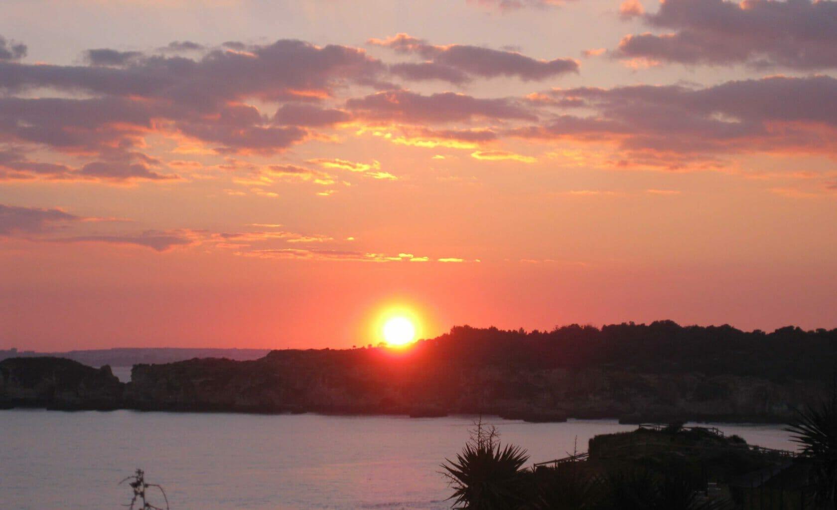 Algarve Natur im Sonnenuntergang