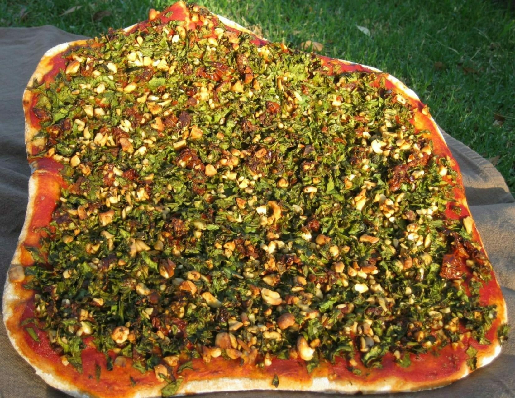 Vegane Pizza komplett