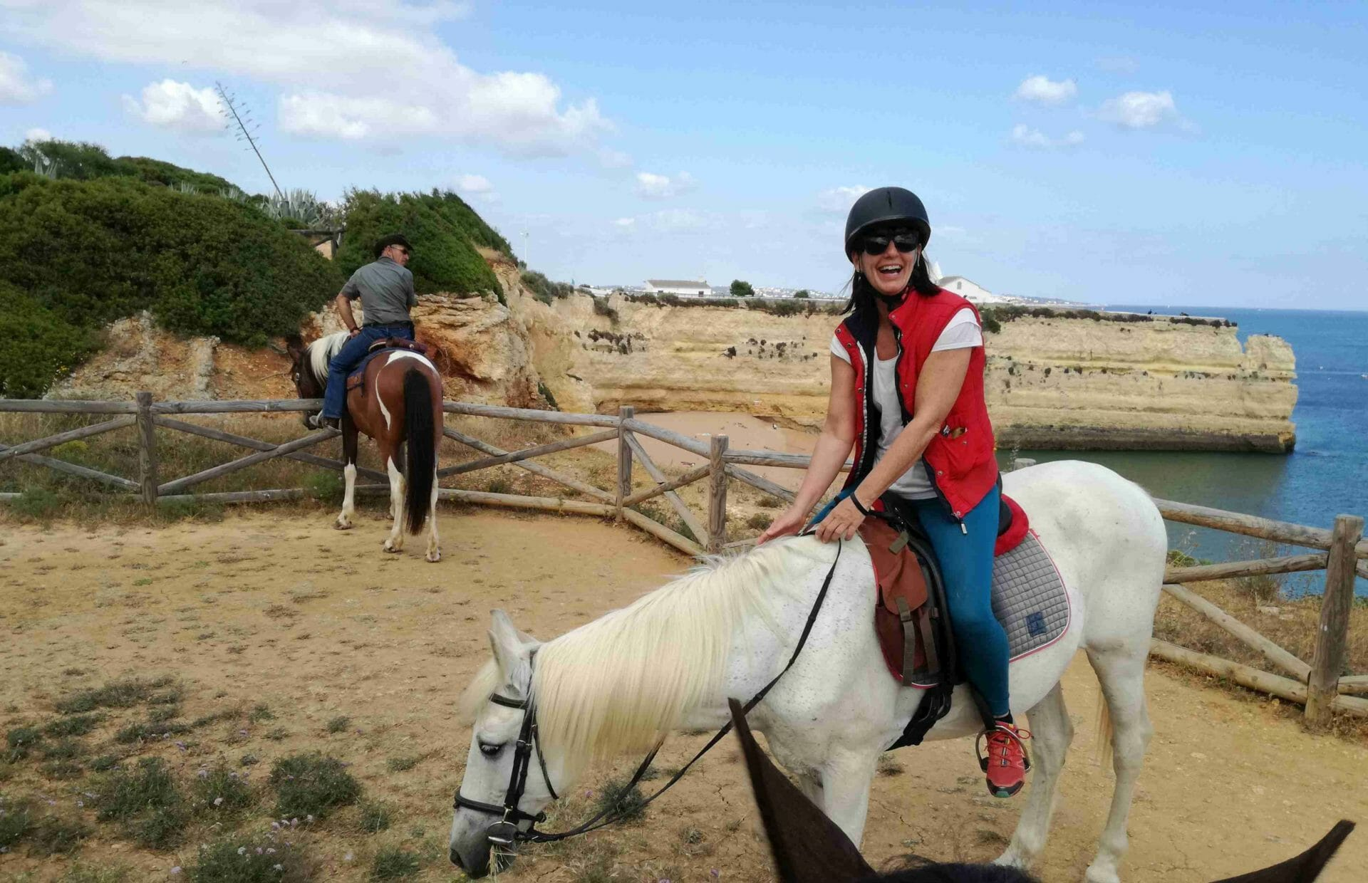 On horseback along the cliffs