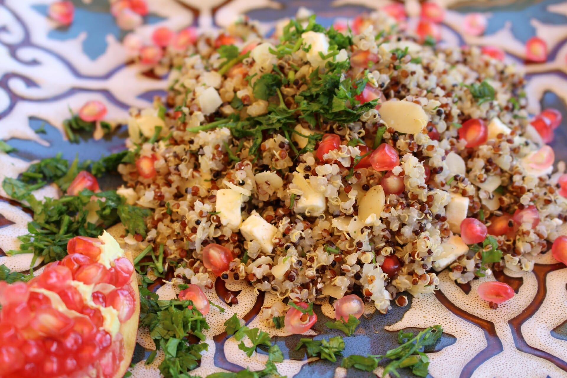 Granatapfel Quinoa Salat