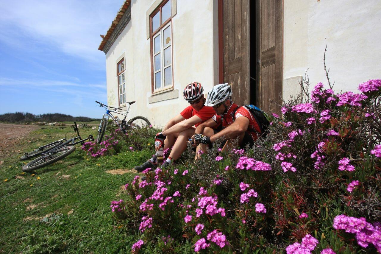 Pause beim Biken an der Algarve