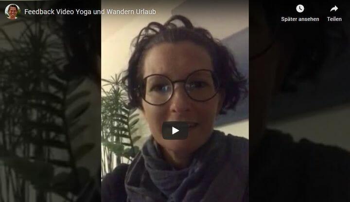 Yoga und Wandern Urlaub: Feedback Video von Tanja