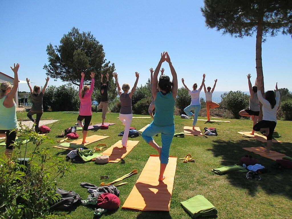 Anfänger im Yoga Urlaub